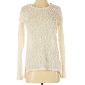 Aeropostale Boucle Cream Sweater 223